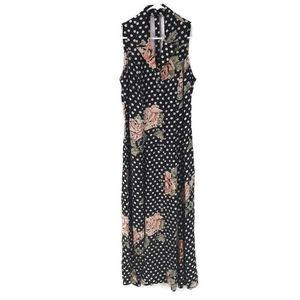 Joseph Ribkoff  polka dot floral maxi dress 10